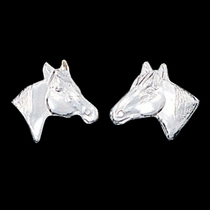 Little Silver Horse Head Earrings (ER41)