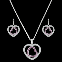 Love's First Blush Heart Jewelry Set (JS3221)