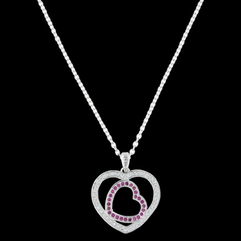Love's First Blush Heart Necklace (NC3221)
