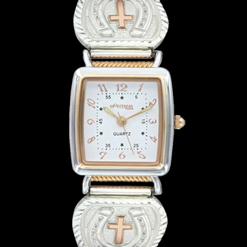 Lucky Faith Cross and Horseshoe Expansion Watch (WCH3099RG)