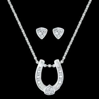 Lucky Trillion Treasure Horseshoe Jewelry Set (JS3216)