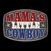 Mama's Little Cowboy Kid's Attitude Buckle (A415)