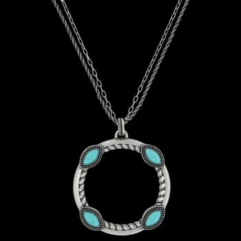 Marquise Circlet Necklace Attitude Jewelry (ANC3455)