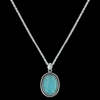 Misty Blue Pool Necklace (NC3178)