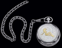 Mudflap Cowgirl Pocket Watch by Montana Silversmiths