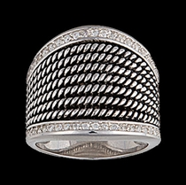 Multi Wide Band Silver Ring by Montana Silversmiths
