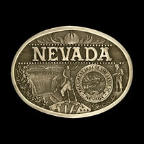 Nevada State Heritage Attitude Buckle (60811NVC)