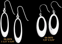 Open Oval Earrings in Sterling Silver