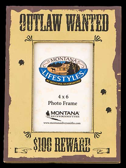 Outlaw Wanted Picture Frame