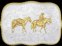 Pack Horse Buckle by Montana Silversmiths