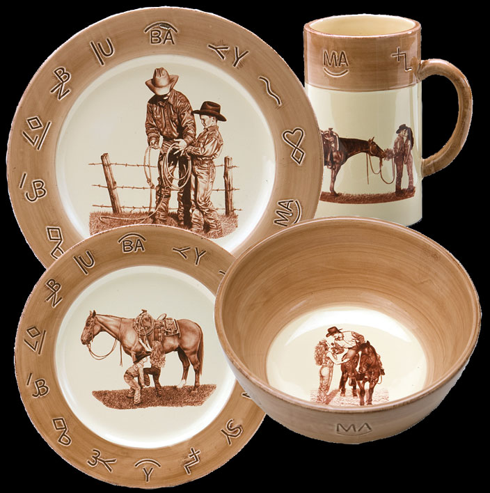Paul Cameron Smith Dinnerware by Montana Silversmiths & Cameron Smith Dinnerware by Montana Silversmiths