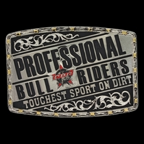 PBR Toughest Sport on Dirt Attitude Buckle