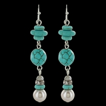 Pearled Sky Triple Drop Earrings Attitude Jewelry (AER3468)