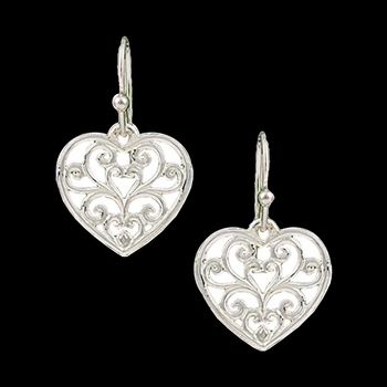 Petite Heart's Flame Lattice Earrings  (ER2282D)