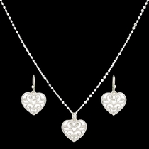 Petite Heart's Flame Lattice Jewelry Set (JS2282D)