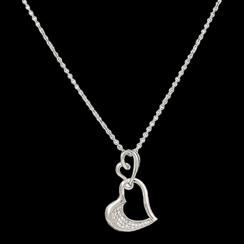 Petite Hearts Reflection Necklace (NC2521)