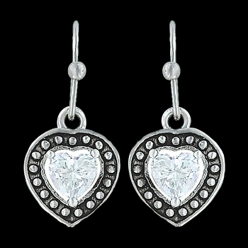 Pin Point Framed Heart Earrings (ER3230)
