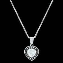 Pin Point Framed Heart Necklace (NC3230)