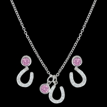 Pink Luck by Star Light Jewelry Set (JS3036PK)