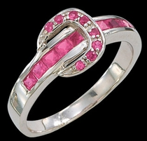 Pink Ranger Buckle Ring by Montana Silversmiths