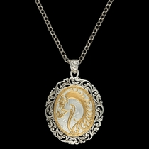 Portrait of a Cowgirl's Love Pendant Necklace (NC2108)