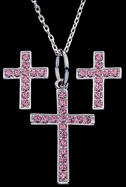 Pretty Pink Cross Set