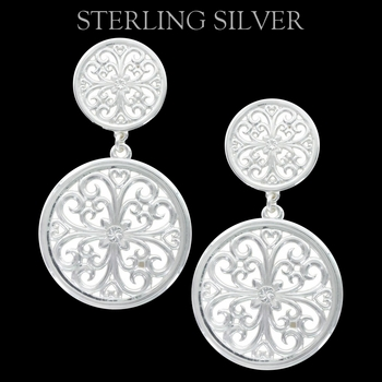 Pure Montana Floral Lattice Dueling Drop Earrings
