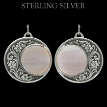 Pure Montana Silver Blooms Under a Lover's Moon Earrings