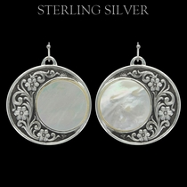Pure Montana Silver Blooms Under a Rising Moon Earrings