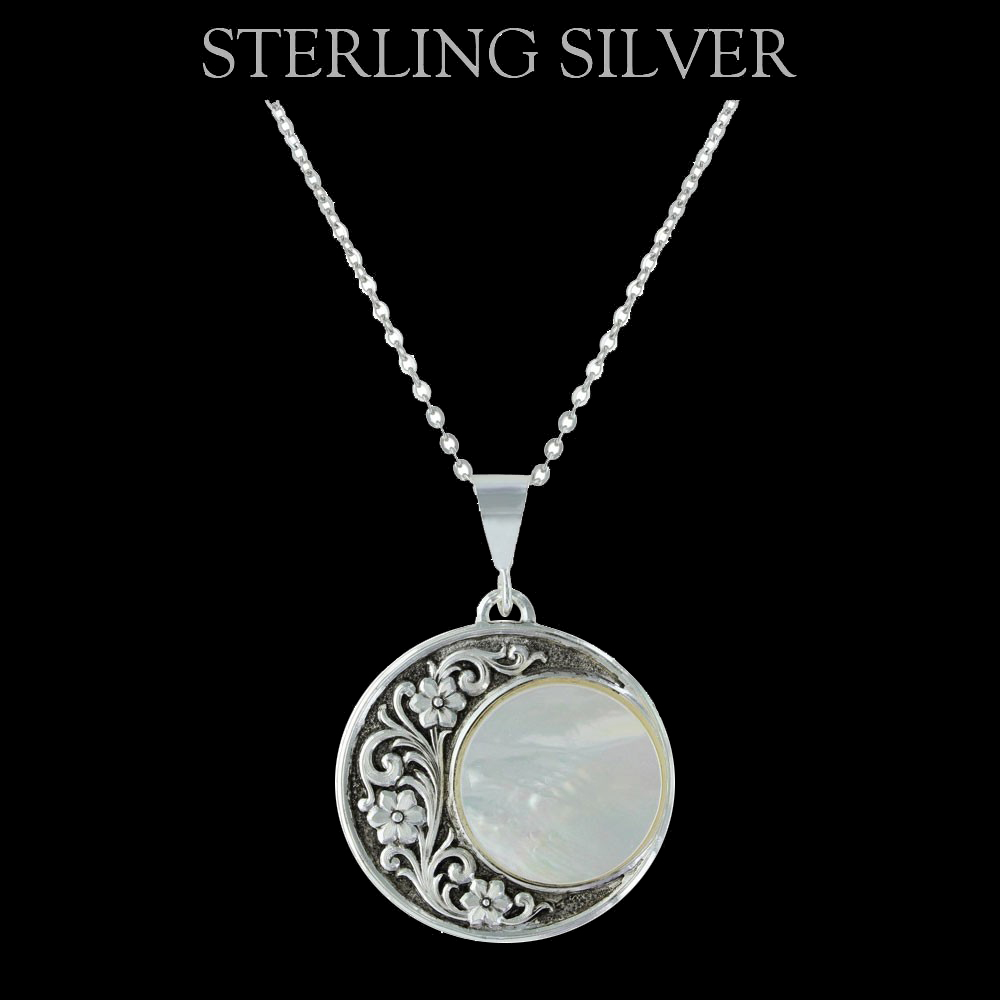 pure montana silver blooms under a rising moon necklace. Black Bedroom Furniture Sets. Home Design Ideas