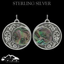 Pure Montana Silver Blooms Under Northern Lights Earrings