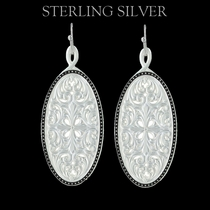 Pure Montana Western Lace Framed Ellipse Window Earrings