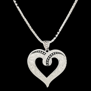 Ribbon Heart Necklace  (NC2208)