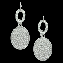 Ripple and Shine Oval Earrings Attitude Jewelry (AER3461)