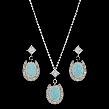 River Lights Pond of Luck in the Evening Sky Jewelry Set (JS2752)