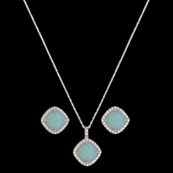 River Lights Pools in Winter Jewelry Set (JS2539)