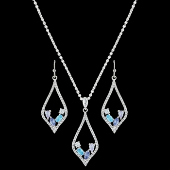 River of Lights At the Water's Edge Teardrop Jewelry Set (JS3391)
