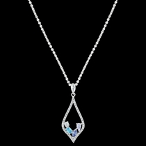 River of Lights At the Water's Edge Teardrop Necklace (NC3391)