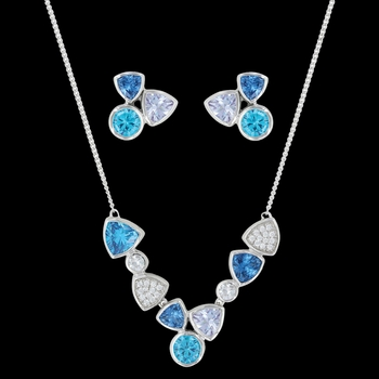 River of Lights Cold Water Cluster Jewelry Set (JS3395)