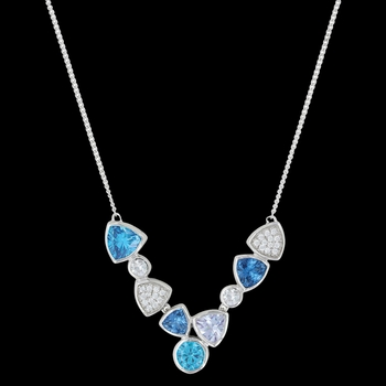 River of Lights Cold Water Cluster Necklace (NC3395)