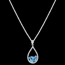 River of Lights Tumbled Stones Teardrop Necklace (NC3392)