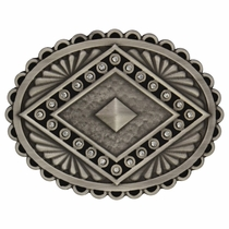 Rock 47®  Points of Aztec Silver Pyramid Attitude Buckle (A444)