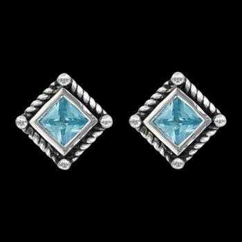 Roped Blue Star Lights Earrings (ER3024BL)