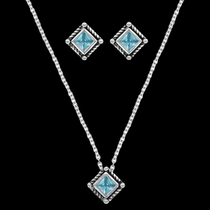 Roped Blue Star Lights Jewelry Set (JS3024BL)