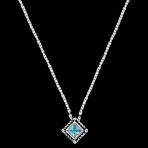 Roped Blue Star Lights Necklace (NC3024BL)