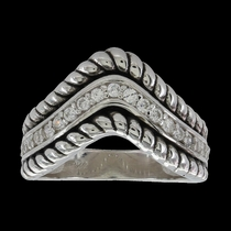 Roped Crown Ring