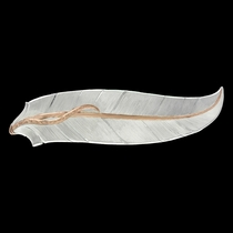 Rose Gold Accent Feather Hair Clip (BA3344RG)
