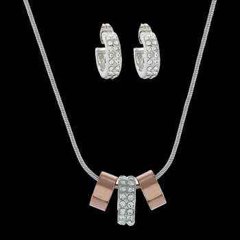 Rose Gold and Double Shine Jewelry Set (JS2749)