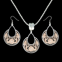 Rose Gold Bitterroot Garden Jewelry Set (JS1557RG)