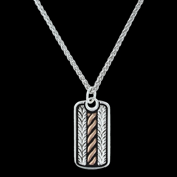Rose Gold Rope and Wheat Short Necklace (NC3111RG)
